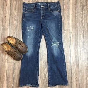 American Eagle Kick Boot Jeans Size 12 Short